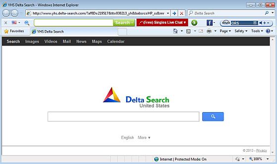 delta search programme malveillant